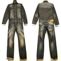 Vintage Men Denim Boilersuit Suspender Dungaree Work Jumpsuit Overall Superman M