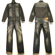 Vintage Men Denim Suspender Dungaree Work Jumpsuit Boilersuit Overall Superman M