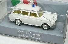 Wiking 1:87 VW 1500 / 1600 Variant OVP Polizei Münster