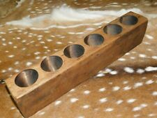 6 Hole Wooden Sugar Mold Wood Candle Holder Primitive Rustic Home Decor