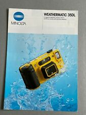 Minolta Weathermatic 35DL, 35mm Film Camera, A4 Paper Brochure, 4 Page fold out