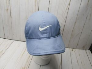 Z Nike Featherlight Hat Blue Dri Fit One Size Hook And Loop Strapback