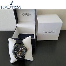 Nautica A11621G Men's Watch Black NSR 102 New Free Shipping (A)