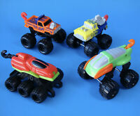 MCDONALD'S MATTEL COMPLETE SET OF 4 ATTACK PAK TRUCKS HAPPY MEAL TOYS - 1993