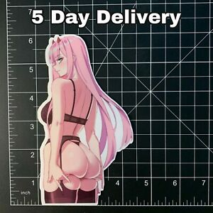Sexy Darling in the Franxx Anime Zero Two Sticker car Decal Vinyl Laptop waifu