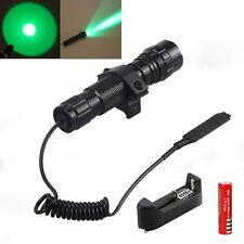 Ricaricabile 2000Lm Q5 LED verde 501B tattica della torcia elettrica Pressostato