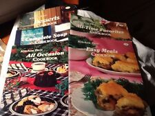 Lot of 5 Kitchen Fare Cookbooks-Desserts, Soups,Favorites, Easy& All Occasion