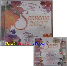 CD SANREMO 2007 MICHELLE HUNZIKER STADIO AL BANO VELVET NADA  NO mc lp (C13*)