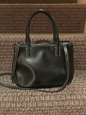 DESMO Italian Black Leather Small Tote