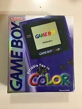 Nintendo Gameboy Color Purple Grape Complete In Box CIB