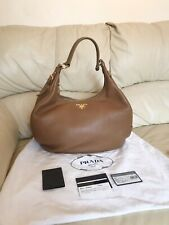 Prada Tan Bag Hobo Shoulder, 100% Authentic, Excellent Condition STUNNING!