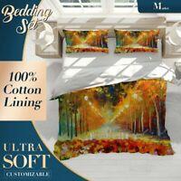 Tree Flower Pop Art Colourful Duvet Cover Sets Single Double Queen King Size