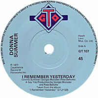 """Donna Summer  I Remember Yesterday   7"""" Vinyl 45rpm 1977  Ex Condition"""