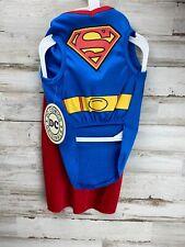 Superman DC Comics Superhero Fancy Dress Up Pet Shop Halloween Dog Cat Costume M