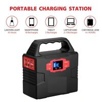 portable Multi Function Power Station AC Generator Solar Emergency Battery Bank