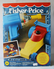 VERY RARE VINTAGE 1994 FISHER PRICE POWER DRILL & CAR KIT TOOL NEW NOS !