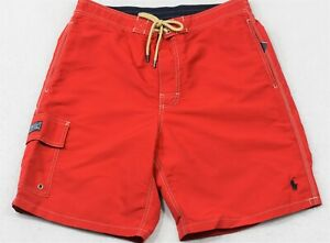 Polo Ralph Lauren Swim Trunks Briefs Shorts Red M Medium NWT