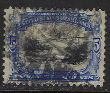 SCOTT 297 1901 5 CENT PAN-AMERICAN EXPOSITION ISSUE USED VF CAT $17!