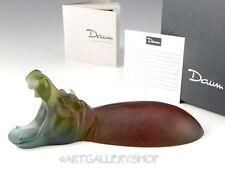 Daum France Crystal Figurine Paperweight #03774 HIPPOPOTAMUS HIPPO PATE DE VERRE