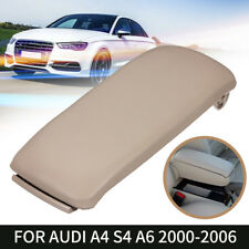 For 00-06 Audi A4 S4 A6 Beige Leather Arm Rest Center Console Lid Armrest Cover