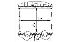 NRF Intercooler radiador admisión de aire 30257