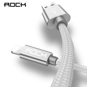 ROCK For Apple iPhone Cable IOS Fast Charger Light USB Cables Charging Cord