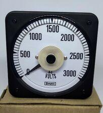 Crompton Instruments / TE TYCO  - AC Voltmeter 150V 0-3000V - 007-05GA-PZUA-C7