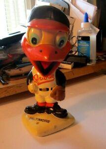 Vintage 1960s Baltimore Orioles Baseball Mascot White Base Nodder Bobblehead