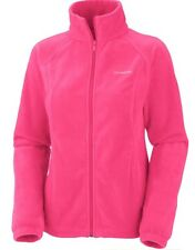 Columbia Women's Fleece Falls Full Zip Jacket Size L Large Pink 652 NWT $50