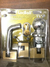 1 7/8 LocBall Trailer Hitch Coupler Ball Pin Lock Security Towing Tow