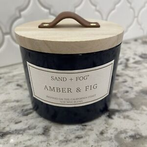 """Sand + Fog Brand Candle • Amber & Fig Scent • 12oz. """"NEW"""""""