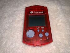 Official Sega Dreamcast RED Visual Memory Unit VMU (Model HKT-7000) OEM Clean!