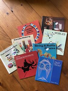 Rare Vintage Leisure Crafts Book Collection Of 8 From 1970s