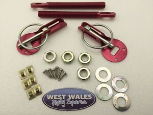 Rally Alloy Competition Panel Fastener Bonnet Boot Pins red gold race track