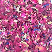 Natural Dried Petal Biodegradable Wedding Confetti 1L Burgundy Red Rose Confetti