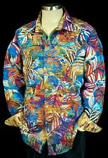 "Robert Graham ""Kingpin Louie"" NWT $398 Tropical Limited Edition Sports Shirt 2XL"