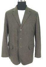 NWOT Express Blazer L Mens Brown Cotton Flannel Herringbone Check Sport Jacket