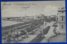 CIVITAVECCHIA Viale Garibaldi visto dalla Stazione no viaggiata anni 20 f/p #318