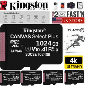 Kingston Micro SD 32GB 64GB 128GB 256GB Memory Card Ultra SDHC SDXC TF Class 10