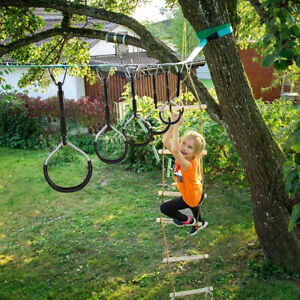 10 pcs Indoor Outdoor Toddlers Swing Rings Climbing Fitness Xmas Gym Play Toys