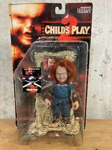 *SIGNED CHUCKY CHILD'S PLAY - MCFARLANE MOVIE MANIACS 1999 - ALEX VINCENT - NIB