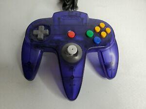 Nintendo 64 Funtastic N64 Grape Purple Controller NUS-005 Tested Clean 🕹 8/10