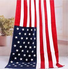 USA Beach Bath Towel AMERICAN Red White Blue Star-Strip Flag 70x150cm