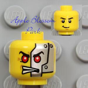 NEW Lego Ninjago MINIFIG HEAD - Robot Cyrus Borg w/Alien Cyborg Monster Red Eyes