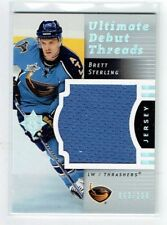 07-08 UD Ultimate Debut Threads  Brett Sterling  /200  Jersey