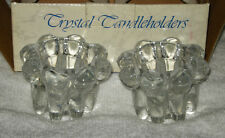 "CRYSTAL CANDLE HOLDERS 2"" TALL x 2-3/4"" DIAMETER BRAND NEW IN FACTORY BOX"