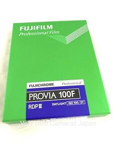 FUJI FUJIFILM PROVIA 100F 4x5 20 Sheet Film ISO100 Made in Japan Fresh