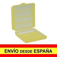 Caja Almacenaje Estuche  Blister Amarilla de Plastico para Baterias AA a3418