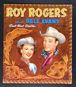 """ROY ROGERS AND DALE EVANS"" 1954 WHITMAN CUT SET PAPER DOLLS VINTAGE"