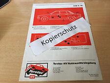 Volkswagen K 70, terotex hohlraumversiegelungsplan